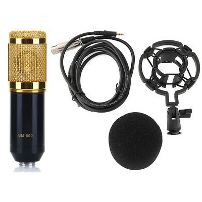 BM-800 Condenser Microphone Mic Kit Live Studio Sound Recording with Shock Mount