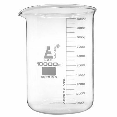 LabGlass Low Form Beaker with Spout Graduated 10,000ml