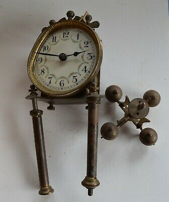 Antique Early German 400 day Clock parts & Movement Porcelain dial