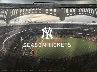 2018 New York Yankees Season Ticket Stubs Booklet All 81 Games 2 Tickets Uncut