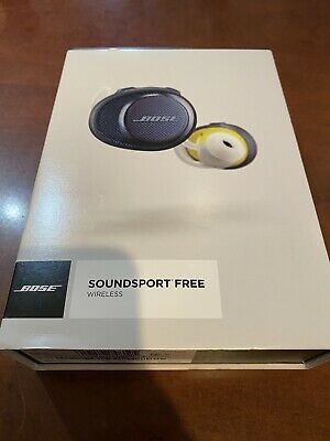 BOSE SOUNDSPORT FREE WIRELESS EARBUDS W/ CHARGING CASE Navy MINT NO RESERVE!