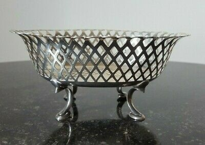 Rare Chinese Export Silver Reticulated Bowl/Basket - Wu Hua, Beijing, C1890