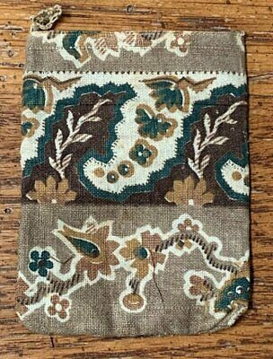 Early Antique Pin Seed BAG c 1830-60s Pennsylvania