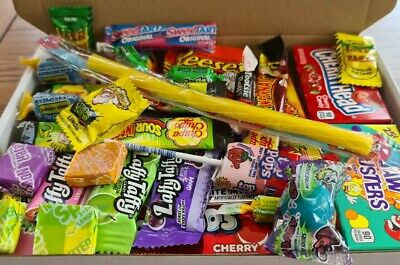 35 American Candy Gift Box Hamper USA LaffyTaffy BIRTHDAY SWEETS AIRHEADS