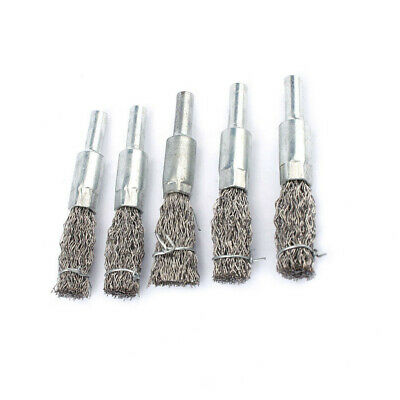 5pcs Stainless Steel Wire End Brush Polishing Wheels Tool Supplies For Descaling