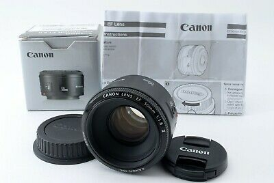 CANON LENS EF 50mm 1:1.8 F/1.8 Ⅱ AF Lens w/BOX From JAPAN [Exc++] #522801