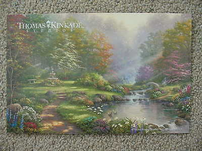 Reflections Of Faith, Thomas Kinkade Studios Dealer Promotional Post Card, Mint!