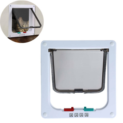 4-Way Small Pet Cat Kitten Small Lockable Safe Flap Door Plastic Gate Pet Gate