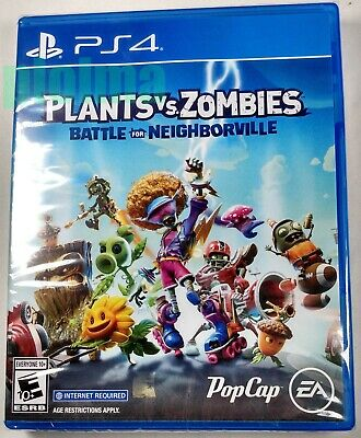PLANTS VS ZOMBIES BATTLE FOR NEIGHBORVILLE New Sealed PS4 Game PlayStation 4 USA