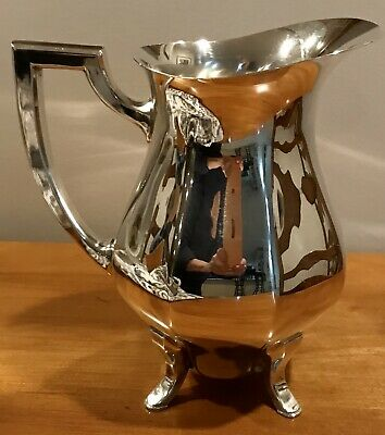 Vintage~WALLACE SILVER~Silverplate Footed Water Pitcher~EXCELLENT Silver Plate