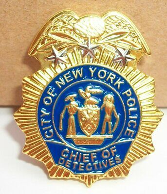 NYPD Police Commissioner mini badge shield NYC Commissioner LAPEL PIN not coin