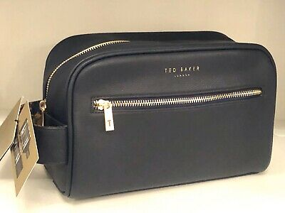 TED BAKER Mens Gift Set Toiletry Bag With Graphite Black Body Spray&Hair Wash