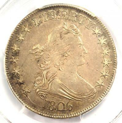 1806 Draped Bust Half Dollar 50C Coin - Certified PCGS XF45 - $1,950 Value!
