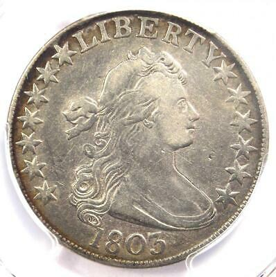 1803 Draped Bust Half Dollar 50C Coin O-102 R6 Rarity-6. PCGS VF25 - $2000 Value