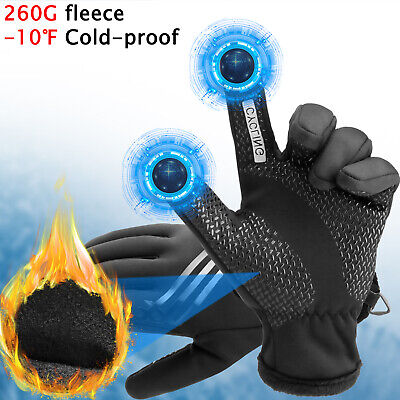 Winter Motorcycle Driving Gloves Touch Screen Windproof Thermal Warm Men Women