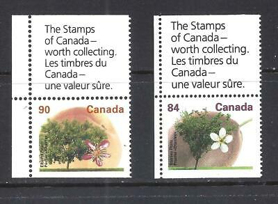 Canada FRUIT TREES BOOKLET PANE STAMPS SCOTT1371A & 1374as VF MINT NH (BS12517)