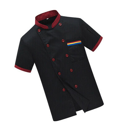 1pc Men Chef Uniform Summer Catering Shirt Chef Tops for Bakery Restaurant Hotel