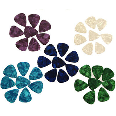 New 30/100pcs Guitar Picks Acoustic Electric Plectrums Celluloid Assorted Colors