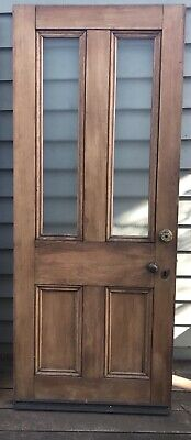 Antique Victorian /Edwardian Timber Glass Door Internal Vintage House -Brunswick