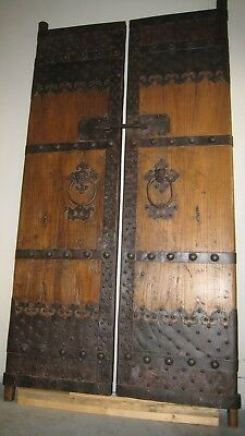 Antique Chinese Doors - Northern Elm & Wrought Iron