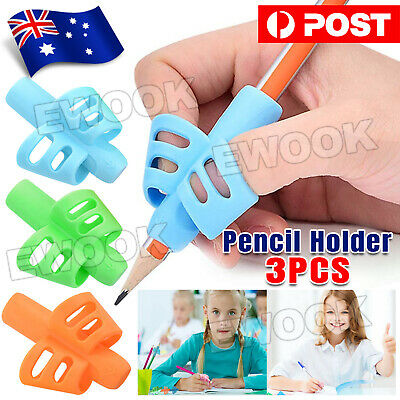 3x Children Pencil Holder Pen Writing Aid Grip Posture Tools Correction OZ