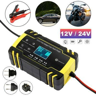 Automatic Electronic Car Battery Charger 12V/24V Fast/Trickle/Pulse  Intelligent