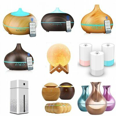 Aroma Diffuser LED Essential Oil Ultrasonic Air Humidifier Purifier Night Light