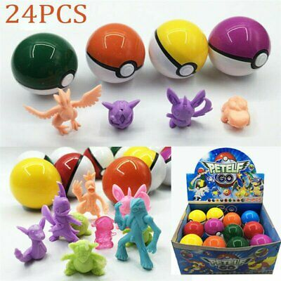 8-24 piezas Pokeball y figuras de acción Pokeball Pokemon Christmas Toys Gift