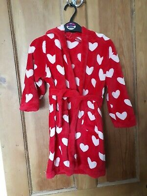Red with white hearts dressing gown from miniclub age3-4 years  #look##