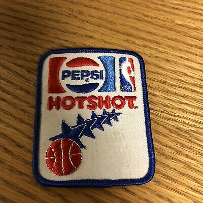 Pepsi Hot Shot Blue Rounded Edges Patch NBA