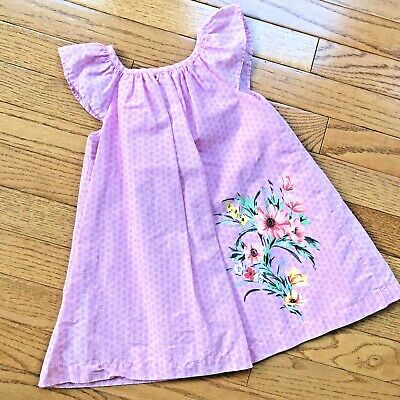 Baby Gap Girls Pink & White A-Line Floral Lined Dress w/ Flower Design Size 2T
