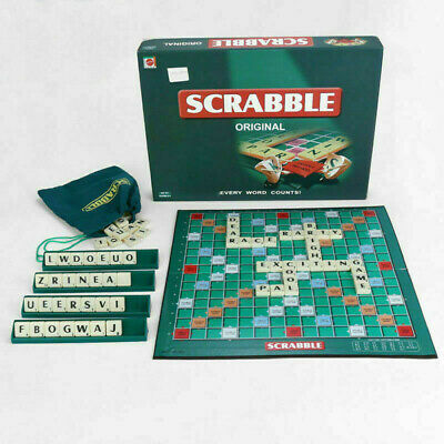 Scrabble Board Game Family Kids Adults Educational Toys Puzzle Game S3X9I