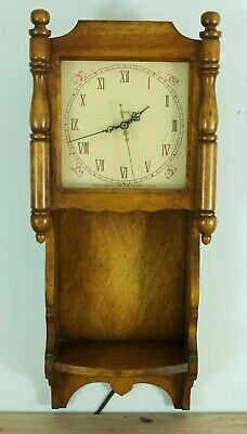 ANTIQUE TREND CLOCK from Zeeland Michigan Trend Clocks Wall Hanging Floral Wood