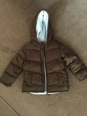 M&S Boys Quilted Puffa Jacket Fleece Lined Age 4-5 Yrs