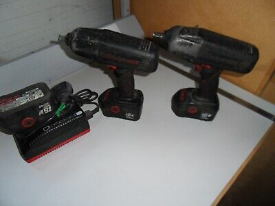 """Snap On  1/2"""" Drive 18V Cordless Impact Wrench Kit Electric Gun X2 with Charger"""