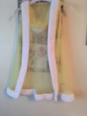 Girls Sparkly Disney Hooded Overlay Dressing Gown By George Age 5/6