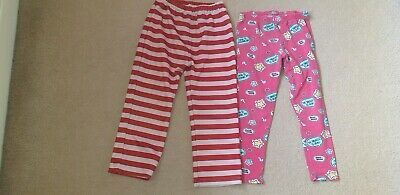 Two Girls PJS Bottoms Age 5/6 & 6 Years