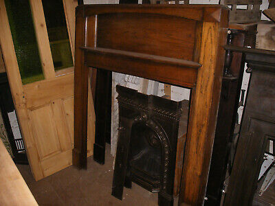Reclaimed 1930s solid oak art deco fireplace surround