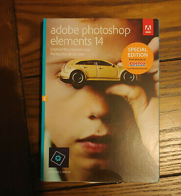 Adobe Photoshop Elements 14 Windows And Mac OS DVDs Costco Special Edition