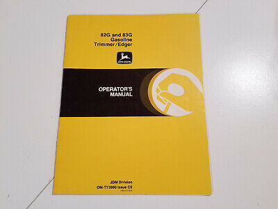 John Deere Trimmer 82G 83G gas trimmer owners manual.