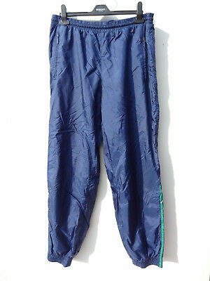 adidas Blue Green Shell Suit Vintage 90s Joggers Bottoms Track Suit XL 40 42