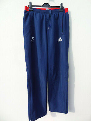 adidas Blue White red Team Gb 2012 London Olympic Joggers Bottoms Track Suit 34