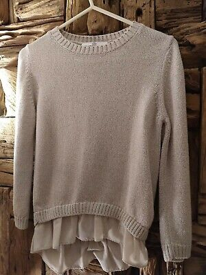 M&S Girls Gorgeous Long Sleeved Sparkly Jumper Fit Girl Age 7-8Yrs
