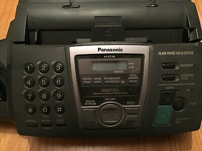 Panasonic Fax/Telephone Machine With Handset Model Kx-Fc195 & 2  Spare Fax Rolls