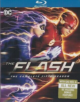 THE FLASH THE COMPLETE FIFTH SEASON BLURAY SET with Grant Gustin & Carlos Valdes