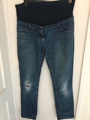 Maternity Jeans Trousers size 12 blue denim over the bump GEORGE Ladies Jeans
