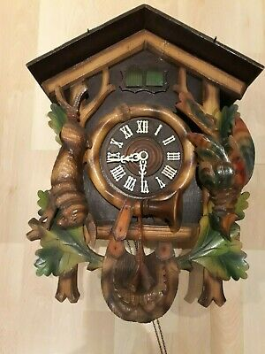 Large Vintage Wooden Cuckoo Clock