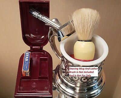 "(963) Vintage Gem ""Micromatic"" Open Comb SE Safety Razor - 1950s"