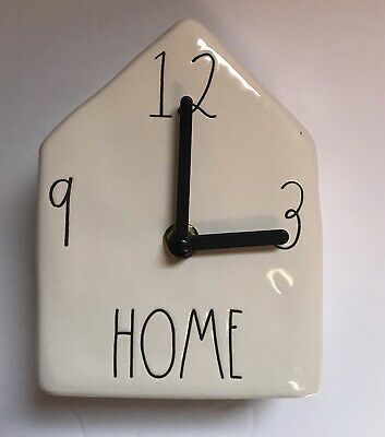 Rae Dunn Ceramic Birdhouse Clock- Home
