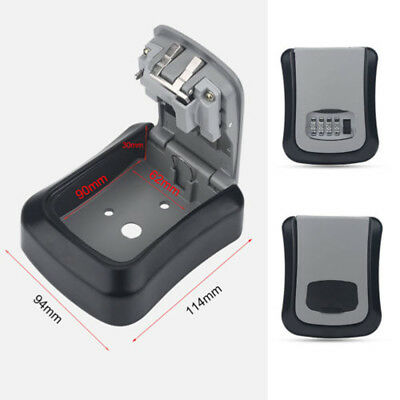 4 Digit Outdoor High Security Wall Mounted Key Box Code Lock Storage  114*94mm